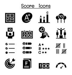 Score icon set graphic design vector