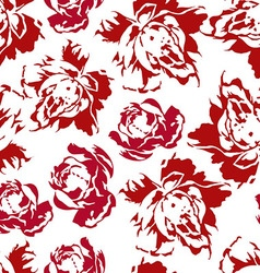 Seamless floral pattern red roses vector