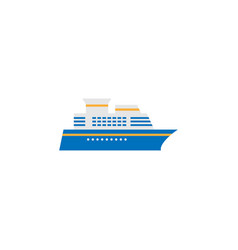 Ship and cruise solid icon navigation vector