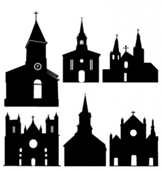 Silhouette church vector