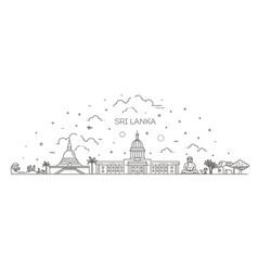 sri lanka line skyline with panorama vector image