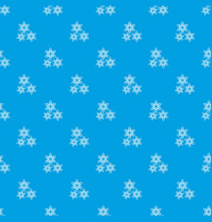 Star anise pattern seamless blue vector