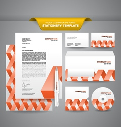 Stationery Template Zigzag vector image