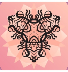 Stylized kaleidoscope medallion yoga india vector image