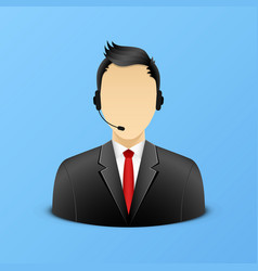 Support assistant detailed icon vector