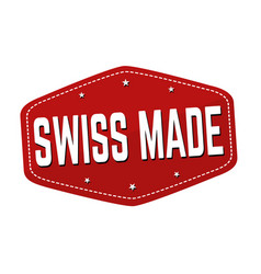 swiss made sign or stamp vector image