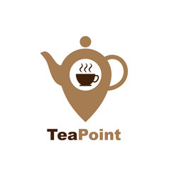 tea location icon map pointer with teacap icon vector image