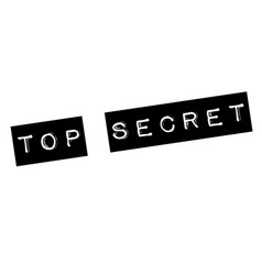 top secret stamp on white vector image