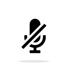 Turn off microphone simple icon on white vector