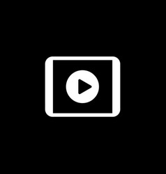 Video report icon business concept flat design vector