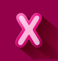 Volume icons alphabet x vector