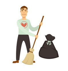 volunteer work or volunteering people vector image
