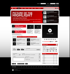 web design website elements red a set of web vector image