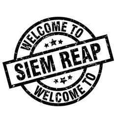Welcome to siem reap black stamp vector