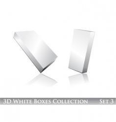 white boxes icon set vector image