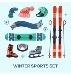 Winter sports design elements set Winter sports vector image vector image