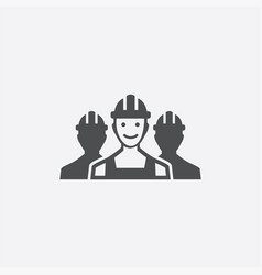 worker group icon vector image