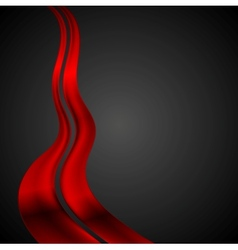 Dark red futuristic waves background vector image vector image