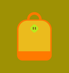 Flat icon on background school bag vector
