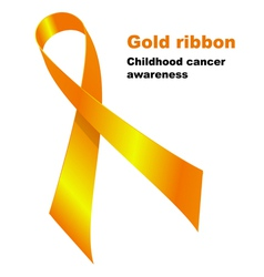 Gold ribbon Childhood vector image vector image