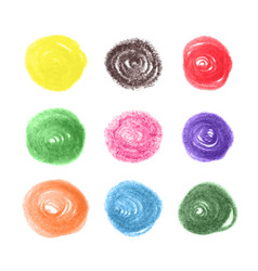 grunge colorful chalk circles vector image vector image
