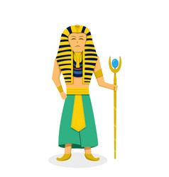 king pharaoh on white in flat style vector image