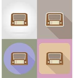 multimedia flat icons 05 vector image vector image