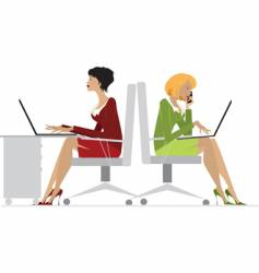 office women vector image