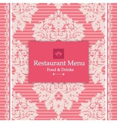 Pink Menu Design vector image vector image