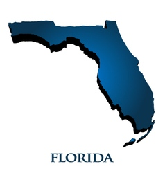 3D Graphic Map Of Florida State vector image vector image