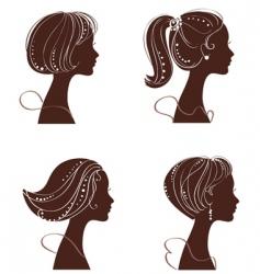 beautiful women vector image vector image