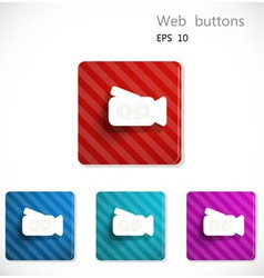 Buttons with icon of video camera vector image vector image
