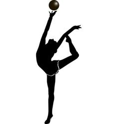 girl gymnast athlete vector image vector image