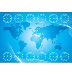 timezone vector image