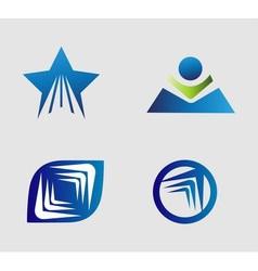 Unusual Flat Logo set for travel transport media vector image