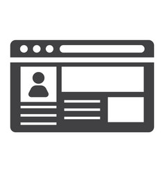 Account solid icon social media and website vector