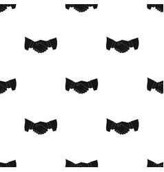 handshakerealtor single icon in black style vector image