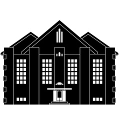 House in classical style vector image