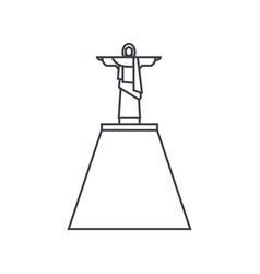 jesus statue line icon sign vector image