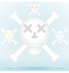 Skull and crossbones icon style in different color vector image vector image