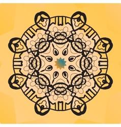 Stylized round lace design Indian mandala arabic vector image vector image