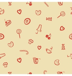 sweets icons seamless pattern vector image