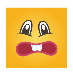 embarrassed smiley face icon vector image vector image