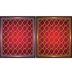 gold and metal grids vector image vector image