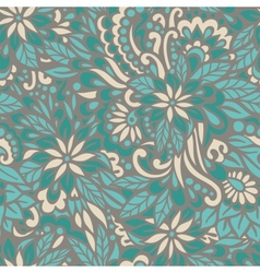 Green meadow Seamless decorative pattern vector image vector image