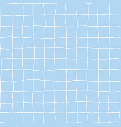 hand drawn checkered grip seamless pattern vector image