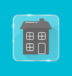 house silhouette icon in flat style on transparent vector image