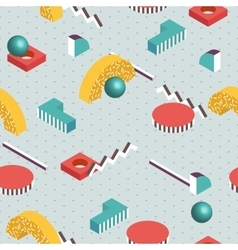 Isometric background Seamless abstract pattern vector image