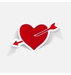 realistic design element heart vector image