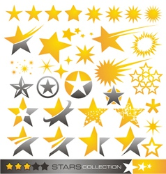 Star icon and logo collection vector image vector image